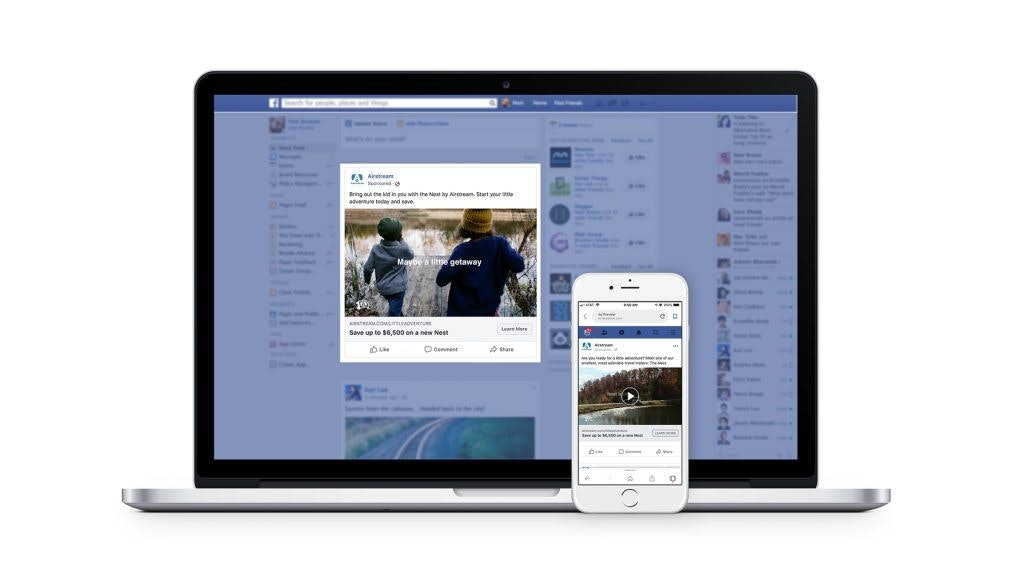 Airstream Little Adventures Campaign on Facebook Desktop and Smartphone