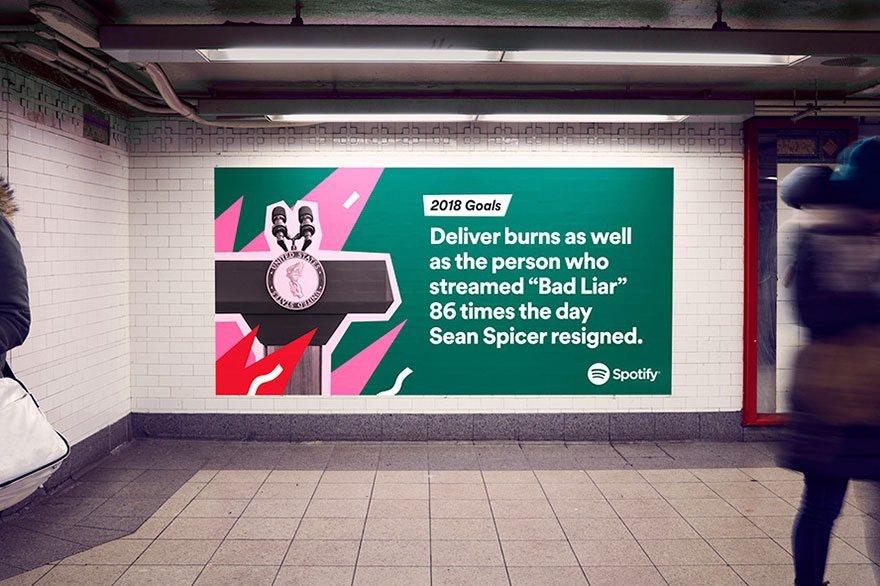 Green Spotify Subway Ad