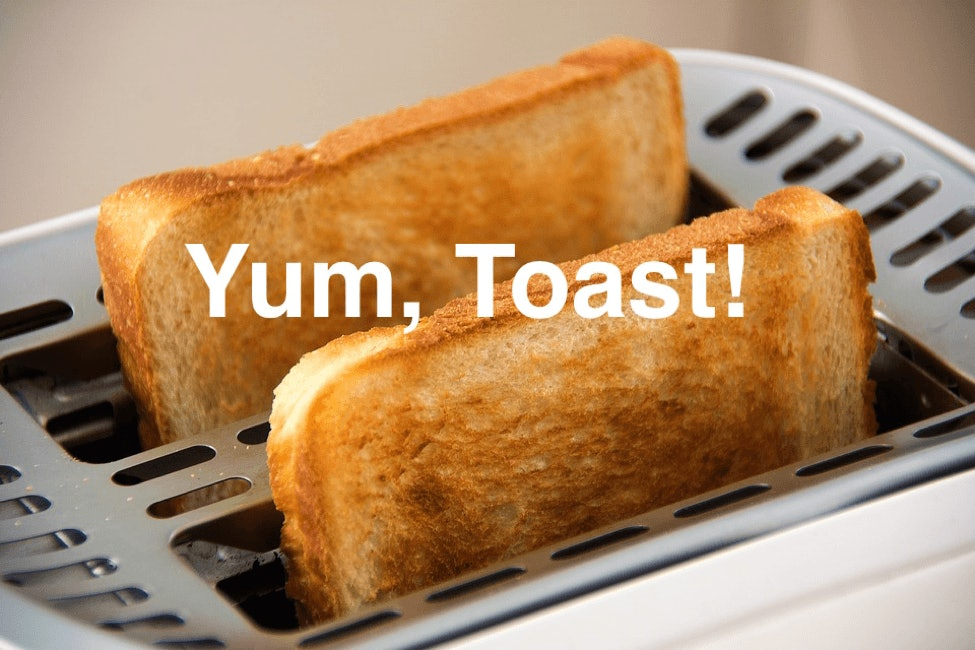 toast coming out of toaster