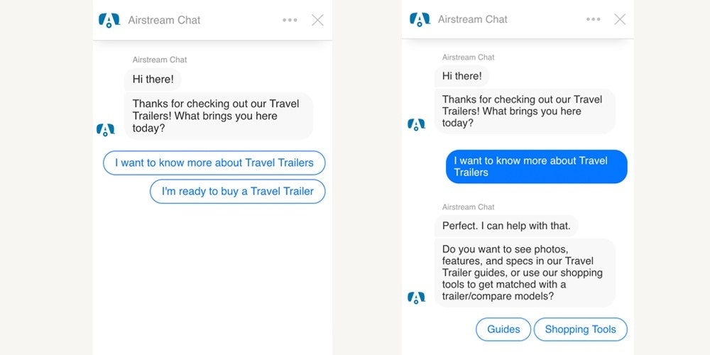 airstream chat bot example