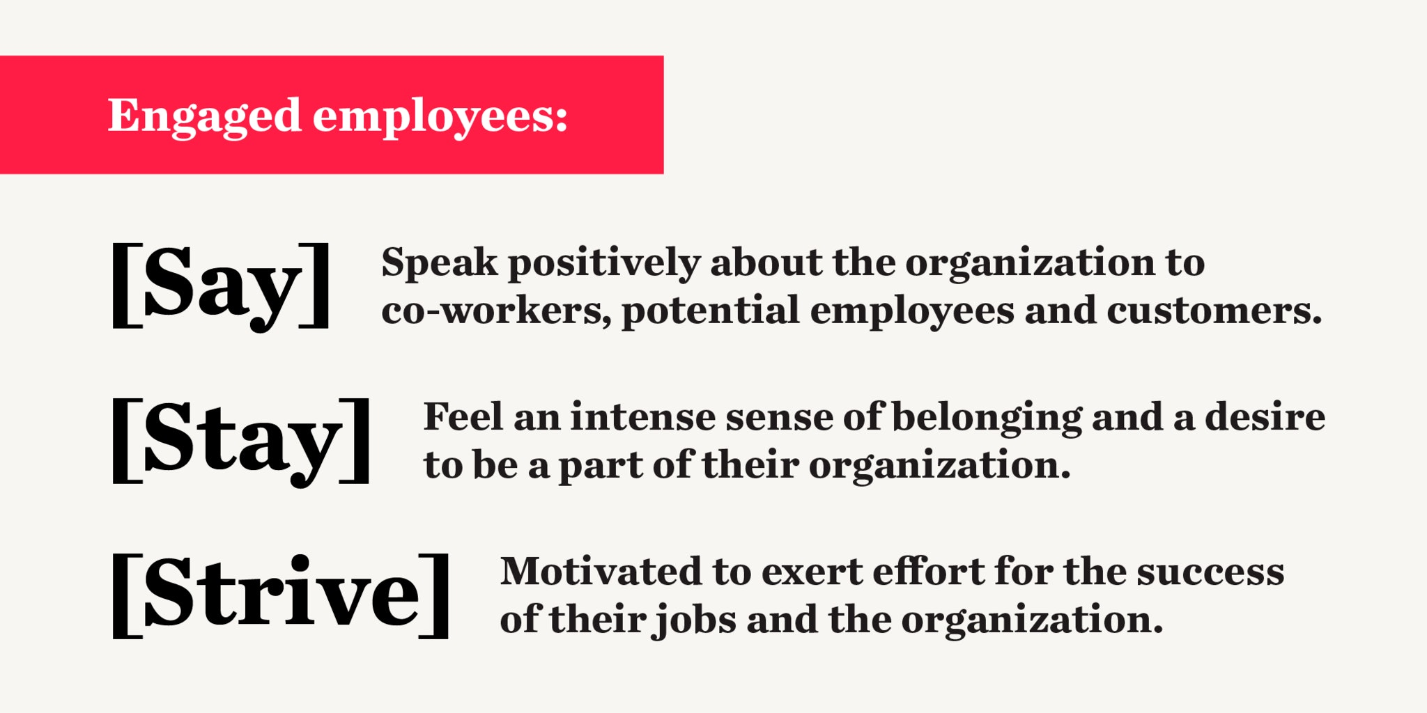 Say Stay Strive for engaged employees