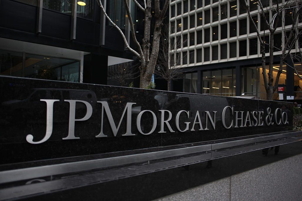 JP Morgan Chase Building Sign